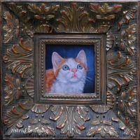 Clawed (Monet) - Miniature Oil Painting by AstridBruning