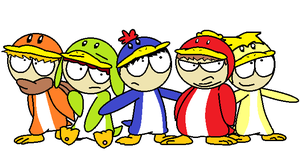New Super South Park Bros Wii: Penguin Boys by HyperBeamEevee