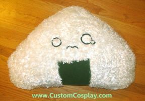 Giant onigiri plush by The-Cute-Storm
