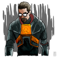Gordon Freeman by RyanRoos