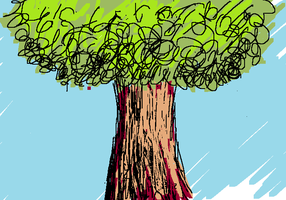 Scribble Tree by theasyname