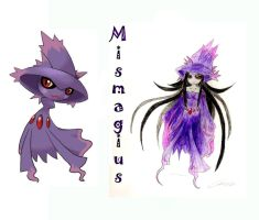 Pokemon Mismagius by Spinalz