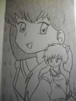 InuYasha and Kagome by firegirl1995