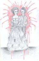 Sweeney Todd and Mrs. Lovett by Leeuwtje