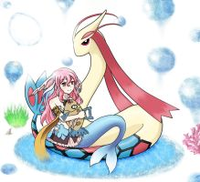 Pia and Milotic by Tiny-May