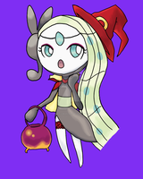 Halloween Meloetta by AquaticMidnight