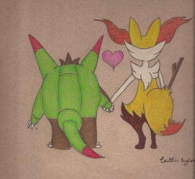 Braxien and Quillidan Ship - Holding Hands by artcat15