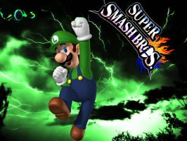 Super Smash Bros -Luigi The Green Thunder- by kreshnik2000