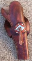 Slim Jim Skirted Holster by Leatherfanshop