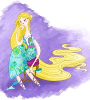 Disgruntled Rapunzel by spicysteweddemon