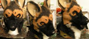 German Shepherd Head by ArtSlavefursuits