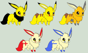 Eevee Electric Adoptables [Closed] by ReinFalling