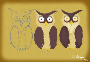 Owl from Owl in the Night by 4everanimaniac