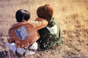 Levi and hanji by ChibiExorcistLiz