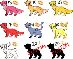 Kitty adoptables by DevilsRealm
