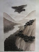 Eagle And Mountains by Vippu