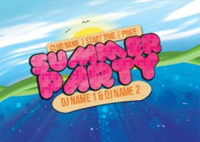 Summer Party Flyer - template by wyeko