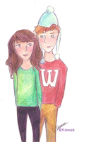 Ron and Hermione by f-innick
