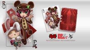 Riot PAX East Cosplay punchcard - unused by MaTTcomGO
