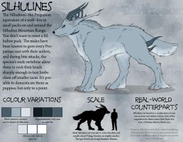 Silhuline Wolf Reference by KingGiantess