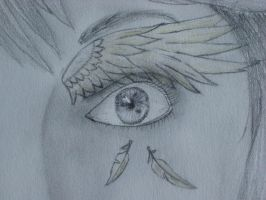 Feathered Eye_Detail by StarDreamer1