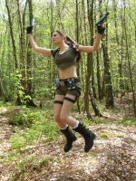 lara croft - woodland 9 by BunniKez