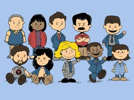 Peanuts Parks and Rec by sponzar