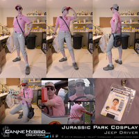 [Cosplay] Jurassic Park: Jeep Driver by CanineHybrid