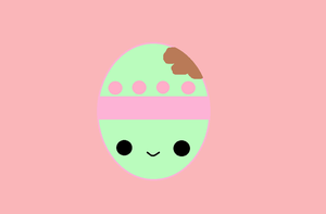 Easter!! (Kawaii Bitten Easter egg) by KawaiiBow100