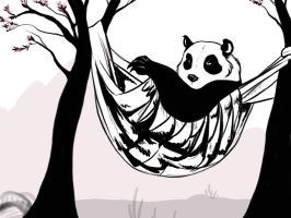 Relaxed Panda Sketch by gothic180