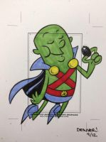 MARTIAN MANHUNTER Sketchcard by thecheckeredman