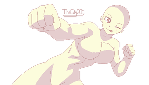 Kickass fighter girl Base by thecity2011