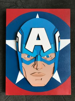 Captain America 3D Canvas by paulo2070