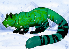 Mweor Adoptables: Emerald by Jupiter-Foxclaw
