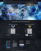 League of Legends Elo Boosting web Design v1 by nARTAlone