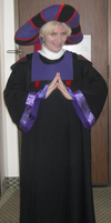 Christine dressed as Frollo by ChristineFrollophile