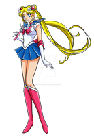 SAILOR MOON - Sailor Moon (dress suit Manga) by JackoWcastillo
