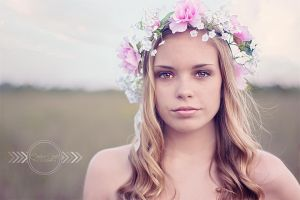 With Flowers in her Hair by CandiceSmithPhoto