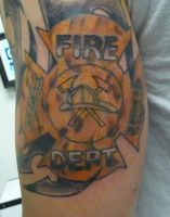 fire in maltese cross by hoviemon