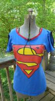 Upcycled Superman Shirt Front by Eliea