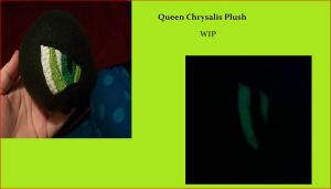 Queen Chrysalis Plush WIP by PollyRockets