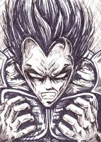vegeta getting angry by casebasket