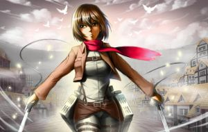 Mikasa Is Awesome by BurntGreenTea