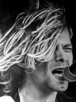 Kurt cobain drawing FINISHED closeup by Slabzzz