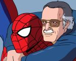 Spider-man and Stan Lee by Mobius-One