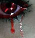 Red Glitter Eye Tryout .. by Ngx3Gc