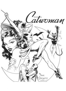 DAVE STEVENS Catwoman recreation by SKY-BOY