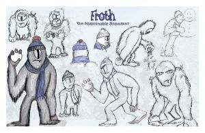 Froth Character Sketch Sheet by DrkSideofLuna