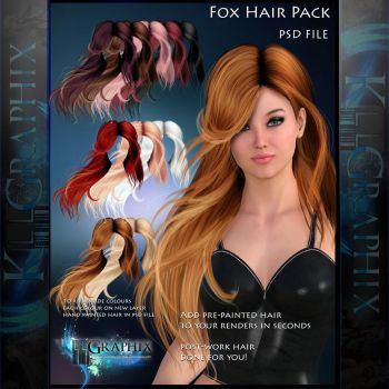 Painted Instant Hair PSD Fox add on hair stock by MakeMeMagical