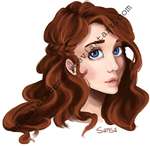 Sansa Stark Headshot by TheAleksDemon